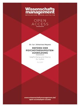 Johannes Neyses: Reform der Psychotherapeutenausbildung